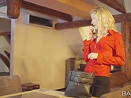 Guy entices brunette Czech Ana Rose into blowjob as stepmother Uma Zex returns home and joins oral lovers 5