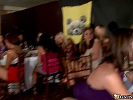 Show is finished and stripper can have oral sexual fun with hot like hell girls in club 5