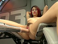 Sex-machine did a good job on Raven Rockette's pussy but immediately she turns to second round 4