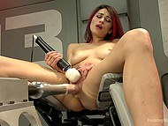 Sex-machine did a good job on Raven Rockette's pussy but immediately she turns to second round 7
