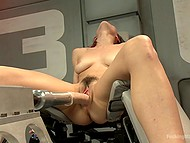 Sex-machine did a good job on Raven Rockette's pussy but immediately she turns to second round 9
