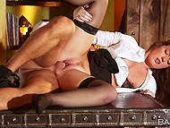 Young man intentionally hired nympho who moans load and loves cumshots over her body 4