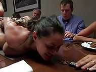 Bohemians have some whimsy - they love tormenting hogtied naked maid during dinner 4