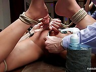 Bohemians have some whimsy - they love tormenting hogtied naked maid during dinner 9