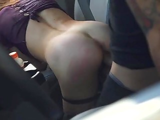 Guy isn't happy with idea of giving girl a free ride and he fucks tight pussy after ties up her hands