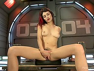 Babe with red hair Raven Rockette uses a lot of sex toys and even fuck-machine for masturbation 3