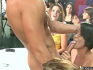 Many girls are ready to suck strippers' cocks and guys are glad to satisfy their oral desires 5