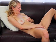 Girl masturbates on camera and takes agent's cock deep in mouth hoping to be the best sucker for him 5