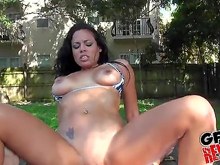 Young man was flirting with female who took his cock in skillful mouth and tender pussy