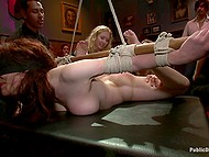 Hogtied looker wants to be scored on camera and she doesn't care about viewers watching her being punished 9