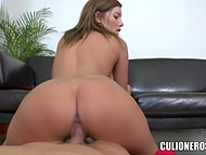 Man knows it's wrong but it feels so good to nail mouth and pussy of Romanian Donna Bell 10