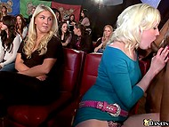 Babes give blowjob to black stripper in turn at the bachelorette party and the bravest one gets facialized 6