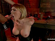 Uniting slit with BBC is all blonde pornstar needs and she is even ready to suffer BDSM games