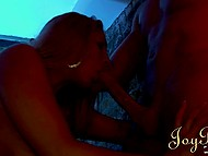 Love with long hair toughly bonked in mouth and pussy by handsome guy in gonzo porn video