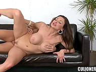 European MILF Aletta Ocean with curvaceous body needs man to thrust cock in her trimmed muff 10