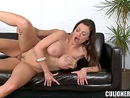 European MILF Aletta Ocean with curvaceous body needs man to thrust cock in her trimmed muff 9