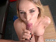 Hungarian Aleksa Diamond knows her way around banging cause she tests new cock each day 6