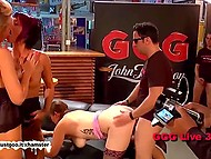 Three German whores take part in unforgettable group sex with various excited strangers 9