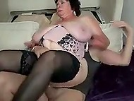 Black stud together with two friends penetrate fatty BBW granny in all her welcoming holes 8