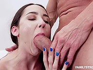 For money attractive brunette Kyra Rose agrees to have forbidden sex with stepuncle 6