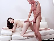 For money attractive brunette Kyra Rose agrees to have forbidden sex with stepuncle 7