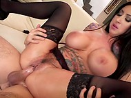 Awesome sex with lover drives luxurious brunette Lily Lane to unbelievable squirting