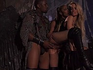 Black angel and partner help blonde woman overcome pain and loneliness by threesome