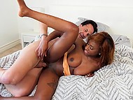 Inmate escapes from prison and Ebony stepdaughter is sure that he needs to fuck a pussy