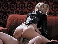 Bearded man Tommy Pistol fucks ravishing blonde MILF and ejaculates on naked tits
