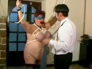 Bondaged woman is looking for some BDSM