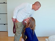 Headmaster catches disciple Ashley Lane masturbating and punishes with hard sex 4