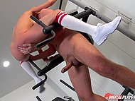 Nasty sex with trainer in empty gym drives blonde MILF Alexis Fawx to squirting orgasms 9