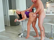 Voluptuous blonde MILF Alena Croft calls stepdaughter's boyfriend to help her and it's a pretext to have sex 8