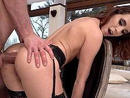 Lucky man takes part in fantastic anal threesome with two twins Nikki Fox and Kitty Fox