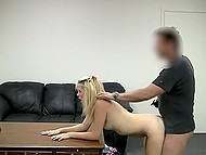 Porn casting helps pleasant blonde girl fulfill dream of becoming an adult actress