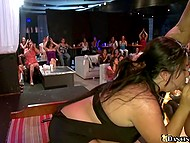 Girls truly love sex on public and gladly give blowjob to stripper in face of applauding viewers 11