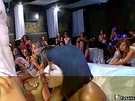 Girls truly love sex on public and gladly give blowjob to stripper in face of applauding viewers 4