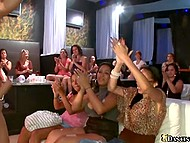 Girls truly love sex on public and gladly give blowjob to stripper in face of applauding viewers 5
