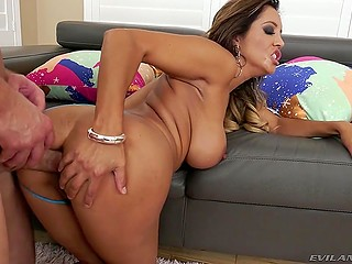 Crazy Latina with big ass and tits gets her asshole destroyed and gapes by excited partner