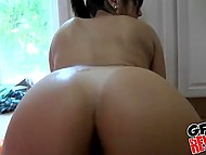 Brunette girl is a real slut and ex-boyfriend takes advantage of her addiction for his cock 5