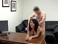 Latina chick agreed for anal penetration at the casting and it turned out to be not so painful