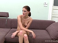 Newcomer rides agent's manhood and passes audition by receiving cum all over face 11