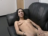 Agent warms Latina girl's pussy by cunnilingus and she is ready to suck man's cock before fuck 10