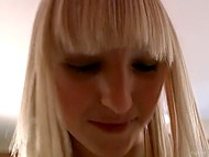 Innocent blonde from college sucks and rides agent's penis during audition in bedroom 7