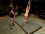 Guy makes simple whore into a star of tonight together with his lesbian assistant fingering slave 8