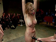 Guy makes simple whore into a star of tonight together with his lesbian assistant fingering slave 9