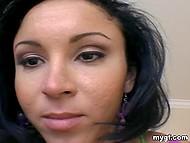 Joyful brunette in green top wants to feel boyfriend's phallus deep inside own cunny 6