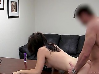 Babe loves great anal sex at the porn casting and surprise in the form of urine fucker gives her in the end