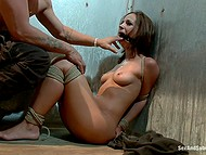Girl continues sucking and fucking even when she doesn't want it cause man has tied her up and uses as a sex doll 8