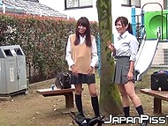 After classes Japanese college girls aren't in a hurry to go home and come to the playground where they piss 7